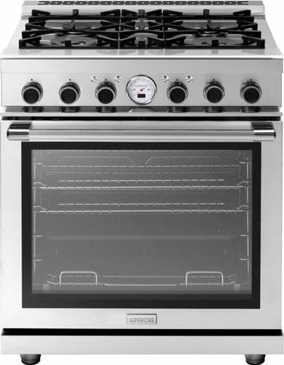 "RN301SPSS Superiore 30"" NEXT Dual Fuel Range with Exclusive Cool Flow System and Panorama Widescreen - Self Clean - Stainless Steel"