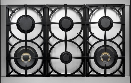 "RN361GPSS Superiore 36"" NEXT Gas Range with Panorama Door and Extra Large Gas Oven - Natural Gas - Stainless Steel"