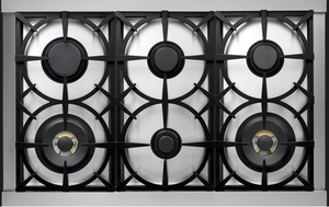 """RN361GPSSL Superiore 36"""" NEXT Gas Range with Panorama Door and Extra Large Gas Oven- Liquid Propane - Stainless Steel"""