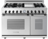 "RN482GCSS Superiore 48"" NEXT Gas Range with Classic Door, Griddle and 2 Extra Large Gas Ovens - Natural Gas - Stainless Steel"