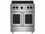 "RNB304PMV2-N BlueStar 30"" Precious Metals Series Gas Range with French Doors - 4 Burners - Natural Gas"