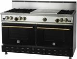 "RNB606FTV2 BlueStar 60"" RNB Series Range With 24"" French Top and Convection Oven Cooking - Natural Gas - Stainless Steel"