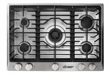 """RNCT305GSLP Dacor 30"""" Renaissance Gas Cooktop with 5 Burners and Die Cast Knobs - Liquid Propane - Stainless Steel"""