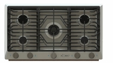 """RNCT365GSLP Dacor 36"""" Renaissance Gas Cooktop with 5 Burners and Die Cast Knobs - Liquid Propane - Stainless Steel"""