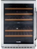 RNF241WCL Dacor Renaissance Single Zone Wine Cellar with 46 Bottle Capacity- Left Hinge - Glass and Stainless Steel