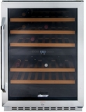 RNF242WCR Dacor Renaissance Dual Zone Wine Cellar with 46 Bottle Capacity - Right Hinge - Glass and Stainless Steel