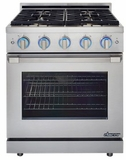 """RNRP30GSNG Dacor 30"""" Self Cleaning Natural Gas Range with DualStacked Burners - Stainless Steel"""