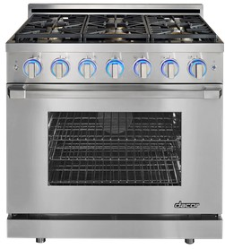 "RNRP36GCNG Dacor 36"" Freestanding Natural Gas Range with Convection Oven - Stainless Steel - Clearance"