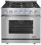 """RNRP36GSNG Dacor 36"""" Self Cleaning Natural Gas Range with DualStacked Burners - Stainless Steel"""