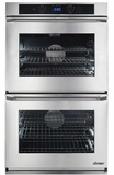 """RNWO227EB Dacor 27"""" Heritage Renaissance Collection Electric Double Wall Oven with GreenClean Steam Cleaning Technology and SoftShut Hinges - Epicure Style Handles - Black"""