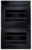 """RNWO227PB Dacor 27"""" Heritage Renaissance Collection Electric Double Wall Oven with GreenClean Steam Cleaning Technology and SoftShut Hinges - Pro Style Handles - Black"""
