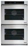 """RNWO227PW Dacor 27"""" Heritage Renaissance Collection Electric Double Wall Oven with GreenClean Steam Cleaning Technology and SoftShut Hinges - Pro Style Handles - White"""