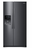 "RS25H5111SG Samsung 36"" Wide, 25 cu. ft. Capacity Side-By-Side Refrigerator with LED Tower Lighting - Black Stainless Steel"