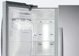 "RS25H5111SR Samsung 36"" Wide, 25 cu. ft. Capacity Side-By-Side Refrigerator with LED Tower Lighting - Stainless Steel"