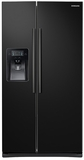 RS25J500DBC Samsung 25 cu. ft. Capacity Side-By-Side Refrigerator with LED Lighting  & External Dispenser - Black