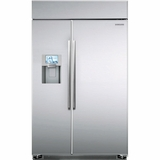 "RS27FDBTNSR Samsung 48"" Counter Depth Bulit-In Side-By-Side Refrigerator - Stainless Steel"