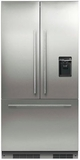 "RS36A72U1N Fisher & Paykel 36"" ActiveSmart French Door Built-in Refrigerator with Ice & Water - 72"" Tall - Custom Panel"