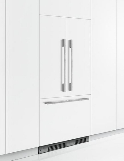 "RS36A72U1 Fisher & Paykel 36"" ActiveSmart French Door Built-in Refrigerator with Ice & Water - 72"" Tall - Custom Panel"