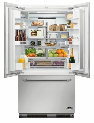 "RS36A72UC1 DCS 36"" ActiveSmart French Door Built-in Refrigerator with Ice & Water - 72"" Tall - Custom Panel"
