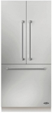 "RS36A80JC1 DCS 36"" ActiveSmart French Door Built-in Refrigerator - 80"" Tall - Custom Panel"
