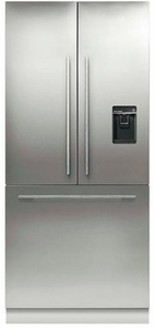 "RS36A80U1N Fisher & Paykel 36"" ActiveSmart French Door Built-in Refrigerator with Ice & Water - 80"" Tall - Custom Panel"