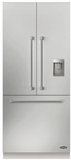 "RS36A80UC1 DCS 36"" ActiveSmart French Door Built-in Refrigerator with Ice & Water - 80"" Tall - Custom Panel"