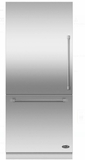 "RS36W80LJC1 DCS 36"" Left Hinge Integrated Bottom Mount Freeze Refrigerator with 16.8 cu. ft. Capacity and 6 Door Bins - Custom Panel"