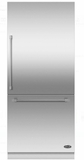 "RS36W80RJC1 DCS 36"" Right Hinge Integrated Bottom Mount Freeze Refrigerator with 16.8 cu. ft. Capacity and 6 Door Bins - Custom Panel"