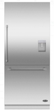 "RS36W80RUC1 DCS 36"" Right Hinge Integrated Bottom Mount Freeze Refrigerator with 16.8 cu. ft. Capacity and 6 Door Bins - Custom Panel"