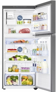 "RT18M6213SR Samsung 29"" Top-Freezer Refrigerator with FlexZone and Twin Cooling Plus - Stainless Steel"