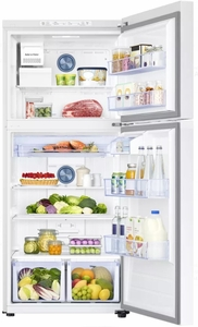 "RT18M6213WW Samsung 29"" Top-Freezer Refrigerator with FlexZone and Twin Cooling Plus - White"