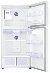 "RT21M6213WW Samsung 33"" Top-Freezer Refrigerator with FlexZone and Twin Cooling Plus - White"