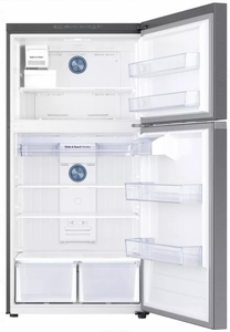 "RT21M6215SR Samsung 33"" Top-Freezer Refrigerator with FlexZone and Twin Cooling Plus - Stainless Steel"