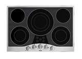 "RVEC3305BSB Viking 30"" Electric Cooktop with Glass Ceramic Surface - Black with Stainless Trim"