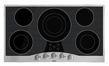 "RVEC3365BSB Viking 36"" Electric Cooktop - Black with Stainless Trim"