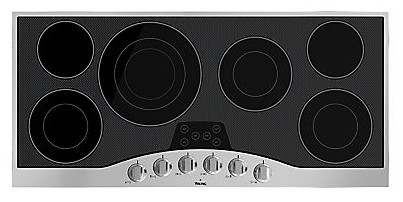 "RVEC3456BSB Viking 45"" Electric Cooktop - Black with Stainless Trim"