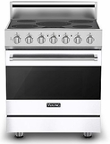 """RVER33015BWH Viking 30"""" Electric Self Cleaning Range with Glass Ceramic Surface - Natural Gas - White"""