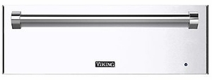"""RVEWD330WH Viking 30"""" Warming Drawer with Removable Racks and Moisture Cup - White"""