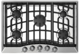 "RVGC33015BSSLP Viking 30"" 5-Burner Propane Gas Cooktop with Electric Ignition - Stainless Steel"