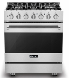 "RVGR33025BSS Viking 30"" 3 Series Freestanding Gas Range with Five Sealed Burners and SureSpark Ignition System - Natural Gas - Stainless Steel"