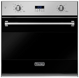 "RVSOE330BK Viking 30"" Single Convection Oven with Concealed Bake Element - Black"