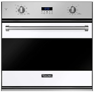 "RVSOE330WH Viking 30"" Single Convection Oven with Concealed Bake Element - White"
