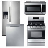 Package S2 - Samsung Appliance Package - 4 Piece Appliance Package with Gas Range - Stainless Steel
