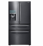 Samsung French Door Refrigerators - BLACK STAINLESS STEEL