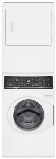 "SF7000WG Speed Queen 27"" Gas Laundry Center with 9 Preset Washer Cycles and 7 Preset Dryer Cycles - White"