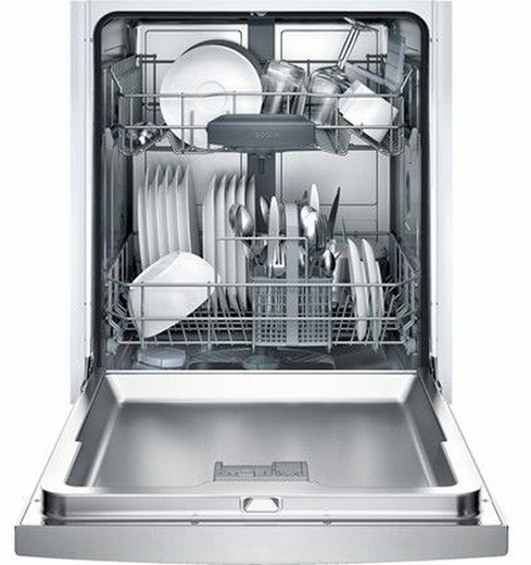 """SGE53XU55UC Bosch 300 Series 24"""" Recessed Handle Dishwasher - Stainless Steel"""