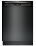 "SHEM78W56N Bosch 800 Series 24"" Recessed Handle Dishwasher with Front Controls and AquaStop - Black"