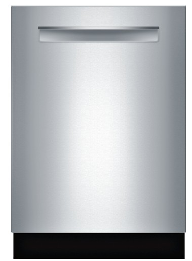 "SHPM65W55N Bosch 500 Series 24"" Pocket Handle Dishwasher with Top Controls and AquaStop - Stainless Steel"