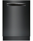 """SHPM78W56N Bosch 800 Series 24"""" Pocket Handle Dishwasher with Top Controls and AquaStop - Black"""