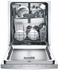 "SHS5AV55UC Bosch Ascenta 24"" Scoop Handle Dishwasher with RackMatic & InfoLight - Stainless Steel"